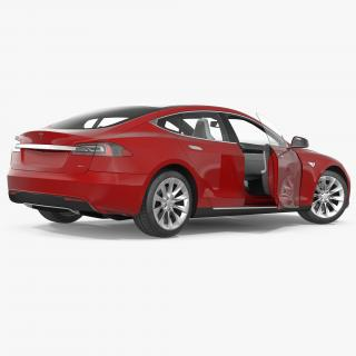 Tesla Model S 90D 2017 Rigged 3D model
