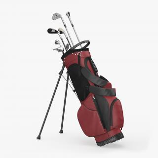 3D Golf Bag 2 with Clubs