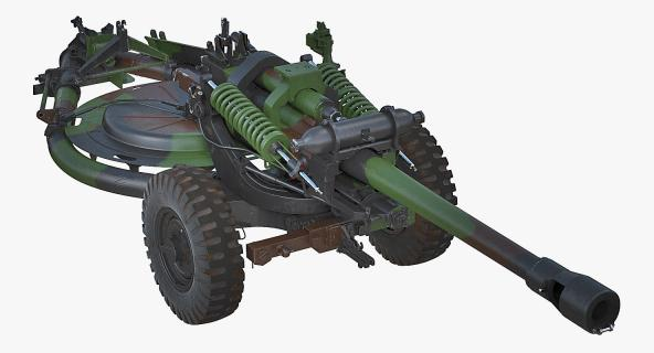 3D model Light Field Howitzer M119