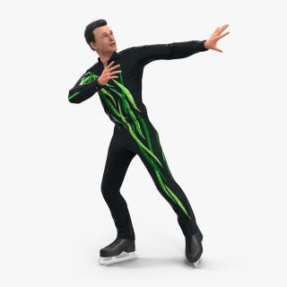 3D Male Figure Skater 2 Dancing model