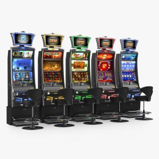 3D model Casino Slot Machines