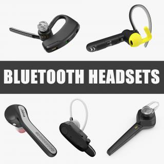 Bluetooth Headsets Collection 3D model