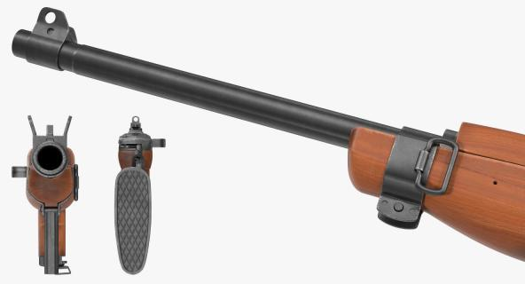 3D Carbine M1A1 Folding Stock