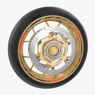 3D Sport Motorcycle Front Wheel model