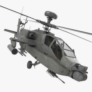 3D AH-64D Apache Longbow Rigged model