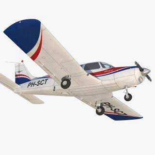 3D model Aircraft Piper PA-28-161 Warrior II