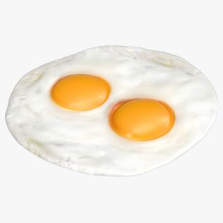 Two Fried Eggs 3D model