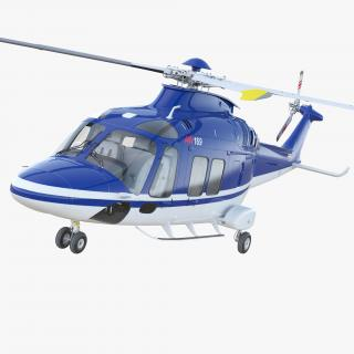 3D Multirole Helicopter AgustaWestland AW169