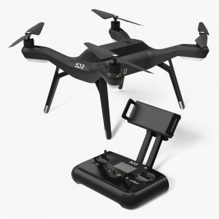 R Solo Drone Quadcopter Set Rigged 3D model