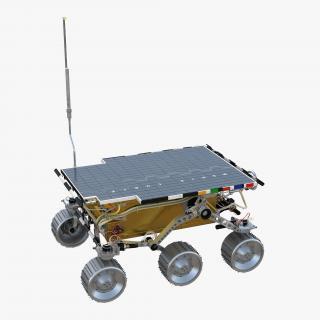 Mars Rover Sojourner Rigged 3D