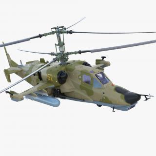 3D Attack Helicopter Kamov KA-50 Black Shark Rigged model