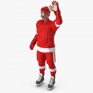3D model Hockey Player Generic 2 Rigged