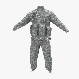 US Helicopter Pilot Uniform Camo 3 3D model