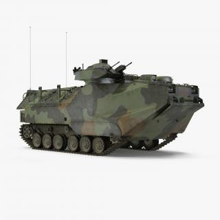 Landing Tracked Vehicle AAV P7 Rigged 3D