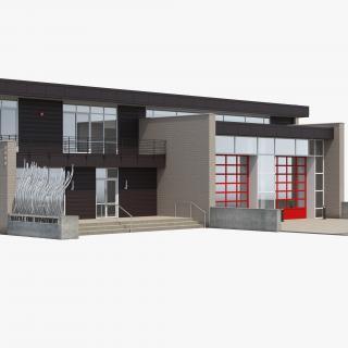 3D Modern Fire Station Building model