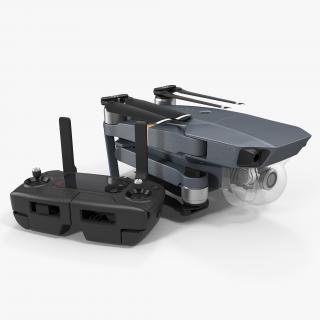 3D DJI Mavic Pro Quadcopter Folded