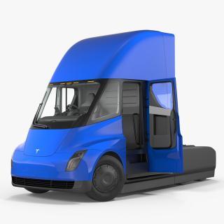 3D Tesla Semi Truck Rigged model