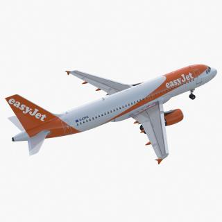 Airbus A320 EasyJet Airline Rigged 3D model