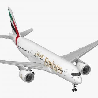 Airbus A350-800 Emirates Air Line Rigged 3D Model 3D model