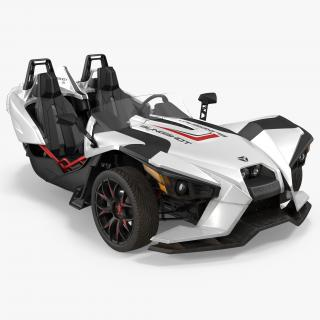 Polaris Slingshot Trike White 2016 3D model
