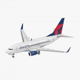 3D Boeing 737-600 with Interior Delta Air Lines Rigged