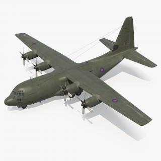 3D Lockheed Martin Hercules C130K Royal Air Force