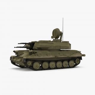 Anti Aircraft Tank ZSU 23 Shilka 3D