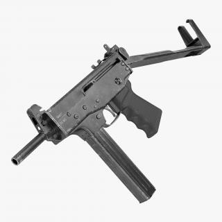 3D model Submachine Gun PP-91 KEDR