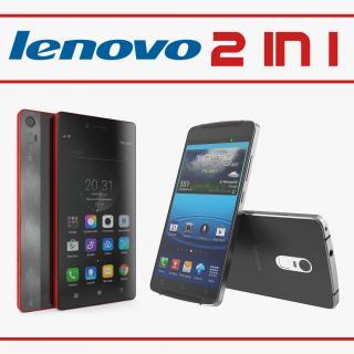 3D Lenovo Cellphones Collection model