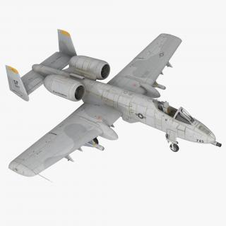 3D model Attack Aircraft A-10 Thunderbolt II