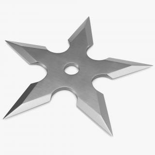 Shuriken Five Points Center Hole 3D