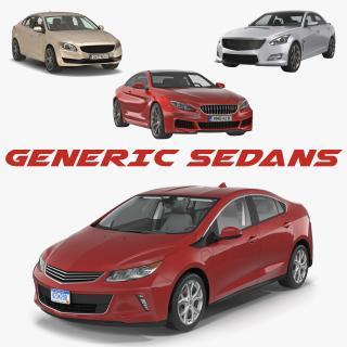 3D model Generic Sedans Collection