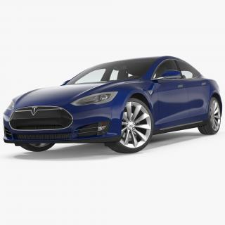 3D Tesla Model S P100D 2015 Rigged