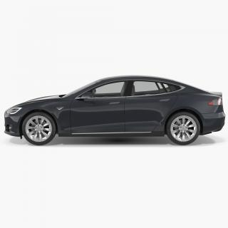 3D model Tesla Model S 100D 2017 Rigged