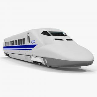 Bullet Train JR700 Locomotive Japan Railways 3D model