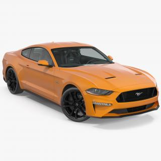 Ford Mustang 2018 Rigged 3D model