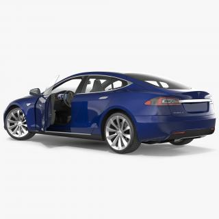 3D Tesla Model S 75 2017 Rigged model