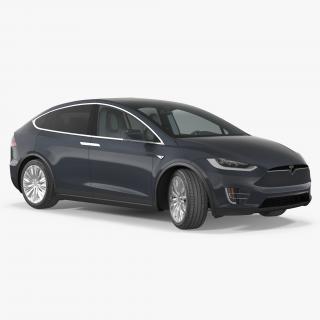 Tesla Model X 60D 2017 3D