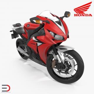 New Honda CBR1000RR Fireblade SP 2016 Rigged 3D model