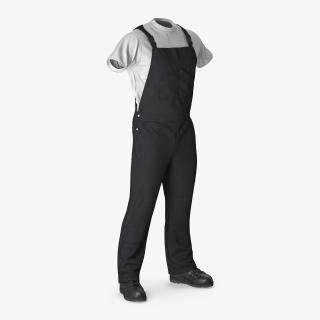 3D model Mens Work Wear Black
