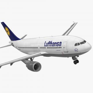 Airbus A310-300 Lufthansa Rigged 3D