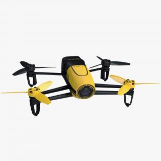 3D Parrot Bebop Quadcopter Drone Rigged
