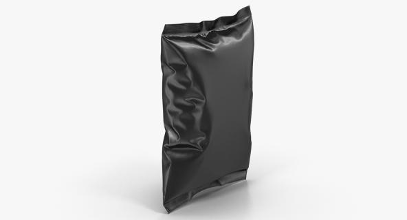 Black Bag Template for Snacks 3D model