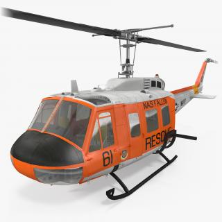 3D US Navy Bell UH-1 Iroquois Rescue model
