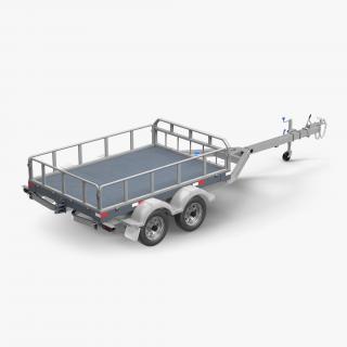 Double Axle Trailer 3D model