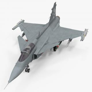 3D model Fighter Aircraft Saab JAS 39 Gripen