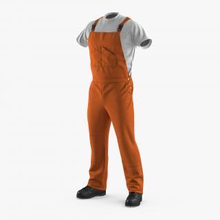 3D model Orange Waterproof Mens Work Uniform