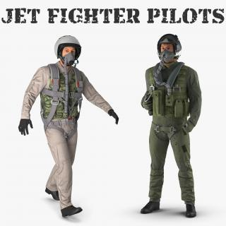 Jet Fighter Pilots Collection 3D model