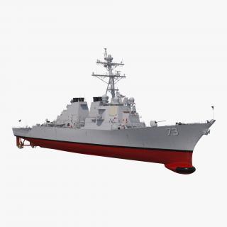 3D Arleigh Burke Destroyer Decatur DDG-73 model