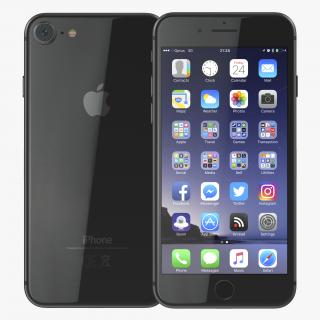 iPhone 8 Black 3D model